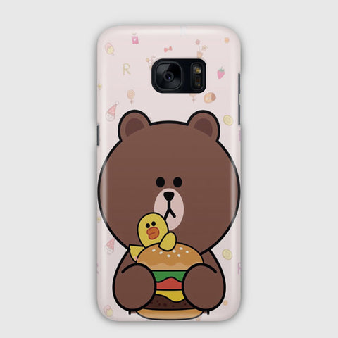 Brown Missing Cony Samsung Galaxy S7 Case