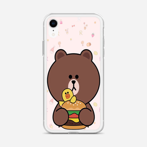 Brown Missing Cony iPhone XR Case