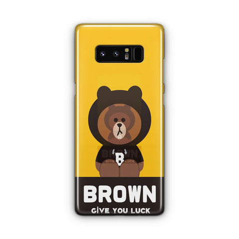 Brownn Give You Luck Samsung Galaxy Note 8 Case