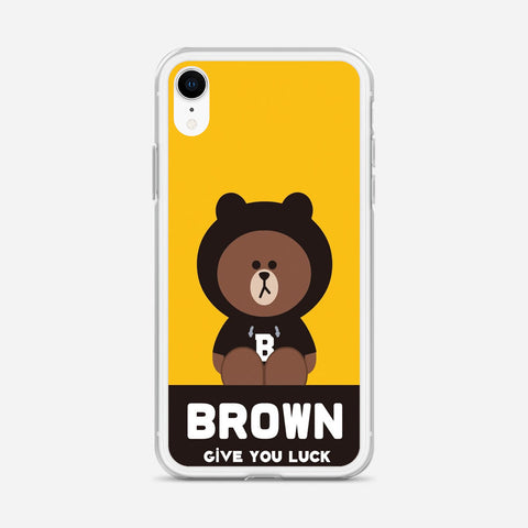 Brownn Give You Luck iPhone XR Case