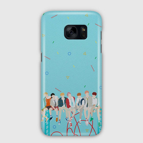 BTS Illustration Samsung Galaxy S7 Case