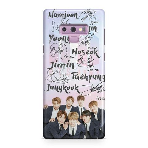 BTS Member Signature Samsung Galaxy Note 9 Case