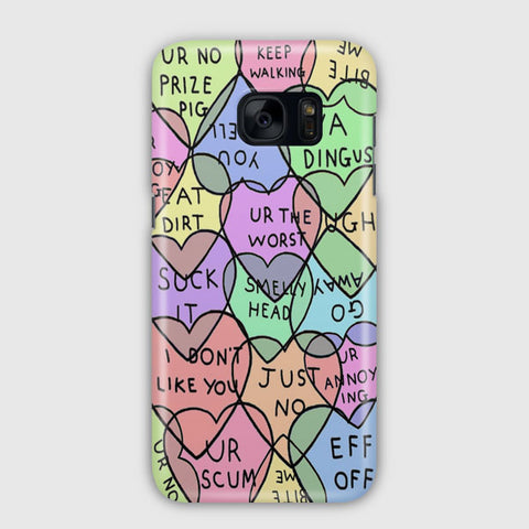 Candy Hearts Valentine s Samsung Galaxy S7 Edge Case