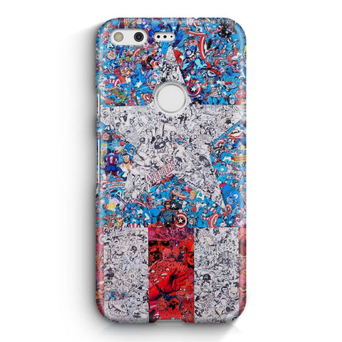 Captain America Comic Compilation Google Pixel XL Case