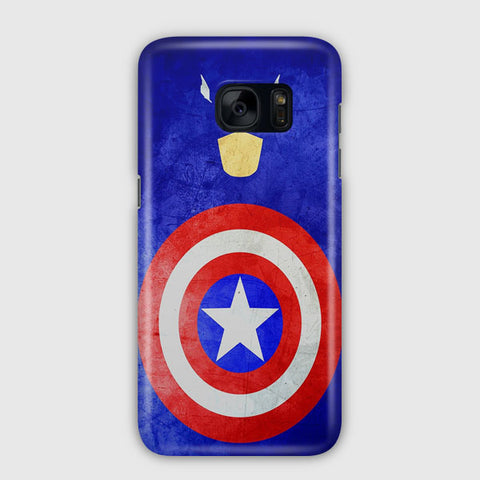 Captain America Print Samsung Galaxy S7 Edge Case
