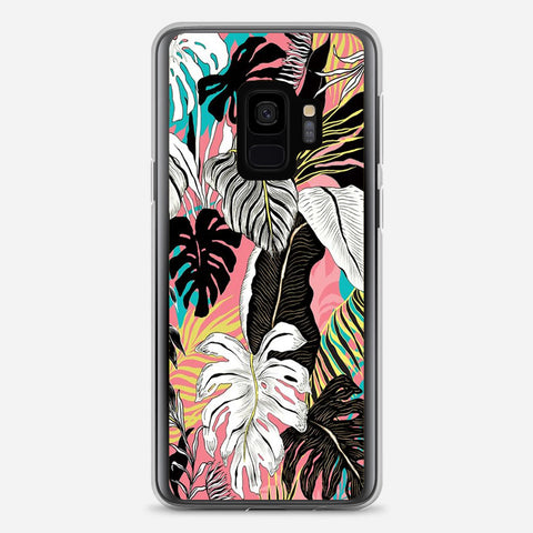 Abstract Floral Samsung Galaxy S9 Case