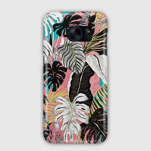 Abstract Floral Samsung Galaxy S7 Edge Case