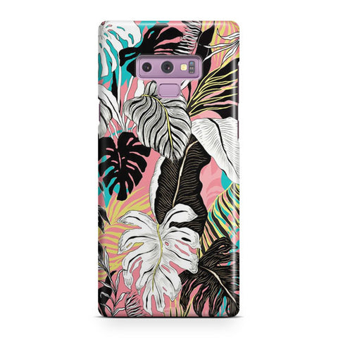 Abstract Floral Samsung Galaxy Note 9 Case