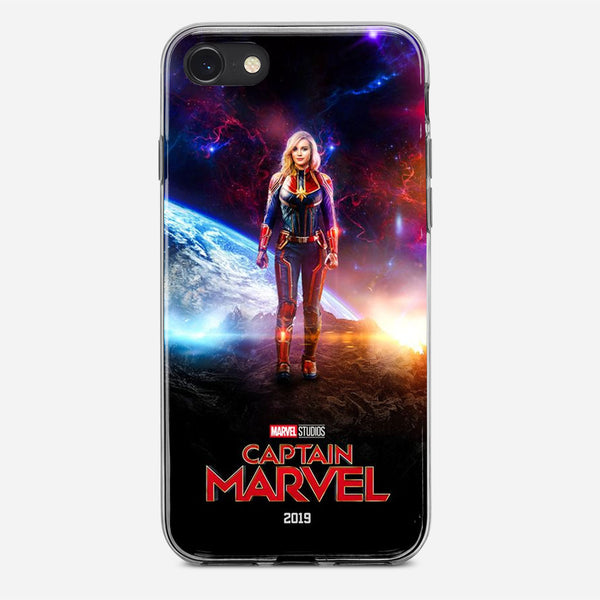 Captain Marvel Artwork iPhone X Case