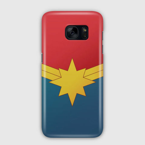 Captain Marvel Poster Samsung Galaxy S7 Edge Case