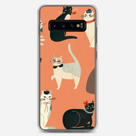 Cats Wearing Funny Samsung Galaxy S10 Plus Case