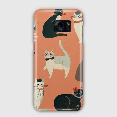 Cats Wearing Funny Samsung Galaxy S7 Edge Case