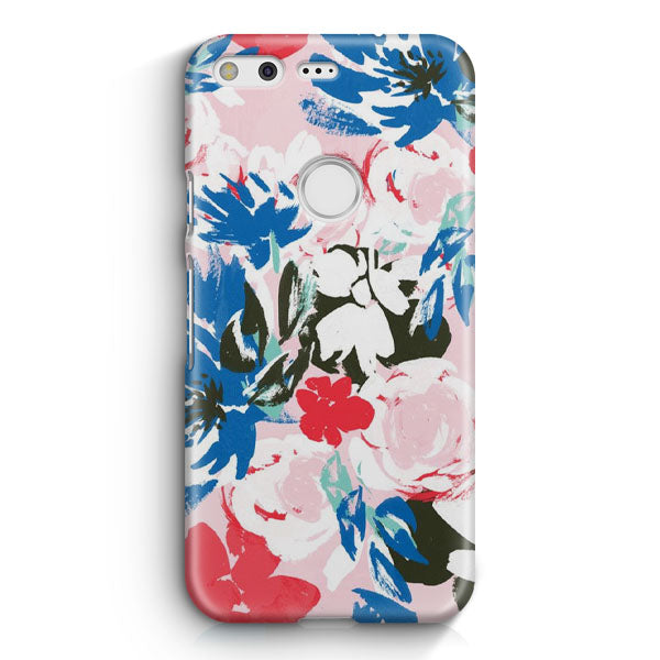 Abstract Flowers Google Pixel Case