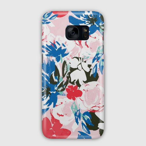 Abstract Flowers Samsung Galaxy S7 Case