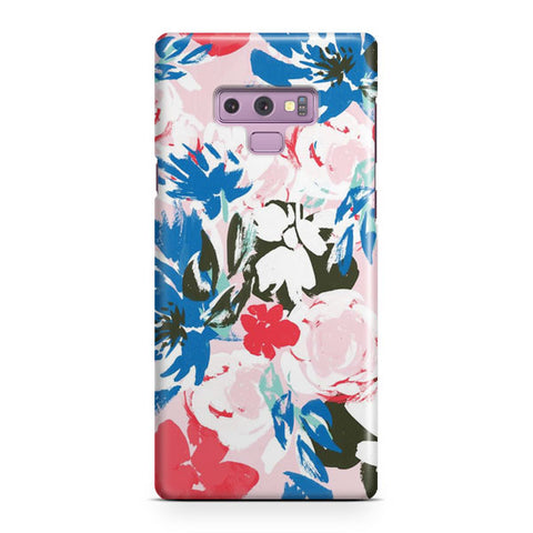 Abstract Flowers Samsung Galaxy Note 9 Case