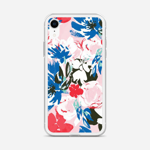 Abstract Flowers iPhone XR Case