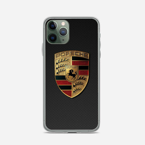 Carbon Porsche Logo iPhone 11 Pro Case