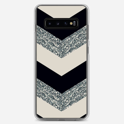 Chevron Glitter Samsung Galaxy S10 Plus Case