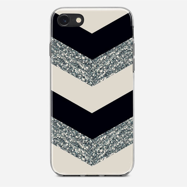 Chevron Glitter iPhone X Case
