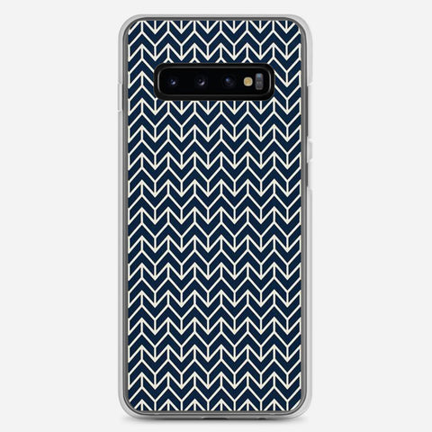 Chevron Navy Samsung Galaxy S10 Plus Case