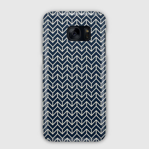 Chevron Navy Samsung Galaxy S7 Edge Case