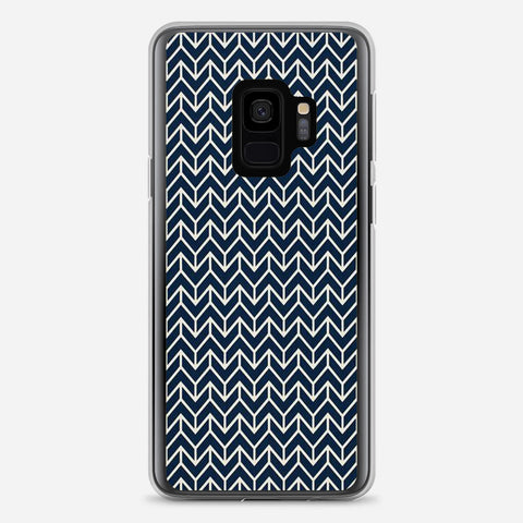Chevron Navy Samsung Galaxy S9 Case