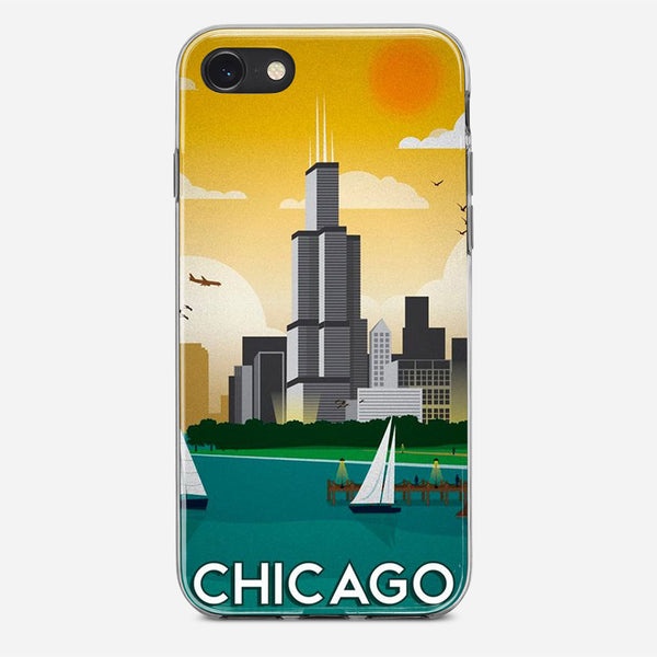 Chicago Travel Poster iPhone X Case