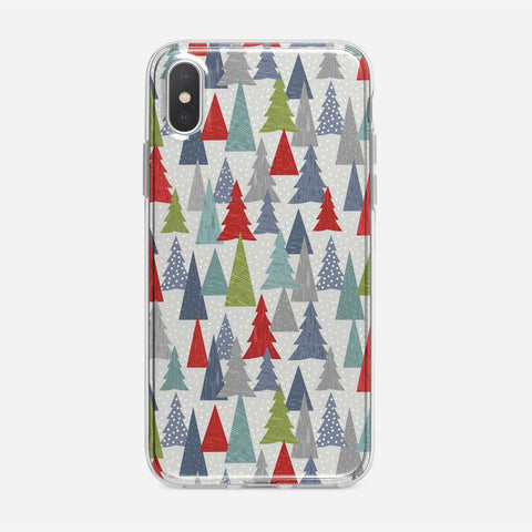 Christmas Trees Pattern iPhone XS Case