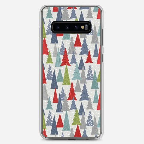 Christmas Trees Pattern Samsung Galaxy S10 Plus Case