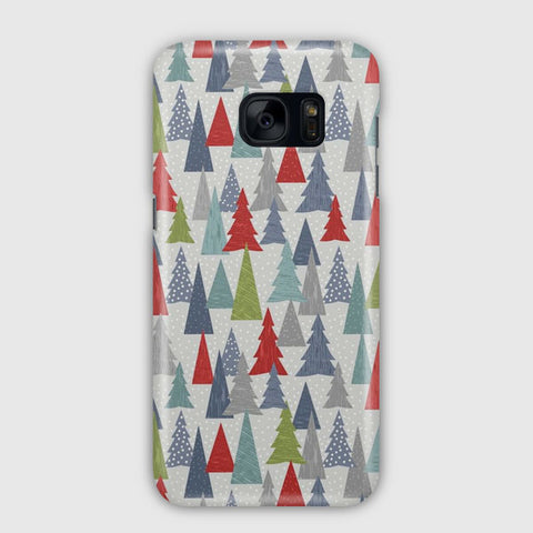 Christmas Trees Pattern Samsung Galaxy S7 Case