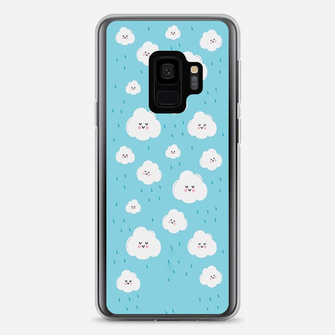Clouds Pattern Kawaii Samsung Galaxy S9 Case