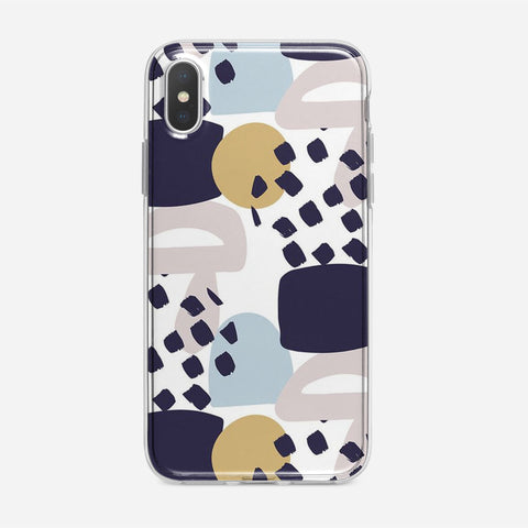 Collage Colorful Pattern iPhone XS Case