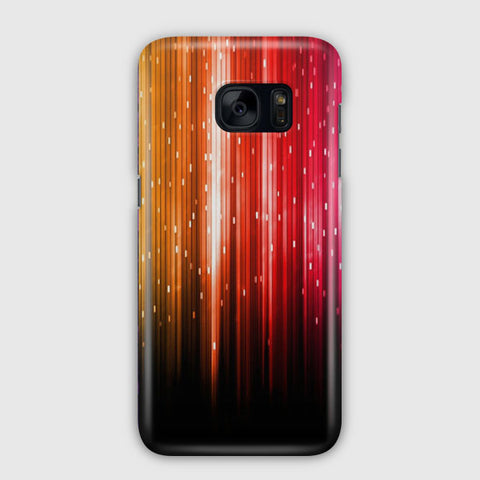 Color Lines Light Red Orange Samsung Galaxy S7 Case