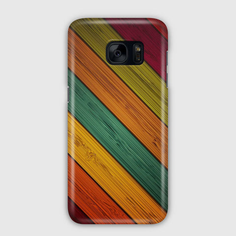 Colored Wood Samsung Galaxy S7 Edge Case