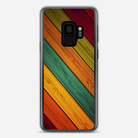 Colored Wood Samsung Galaxy S9 Case