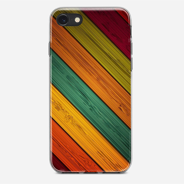 Colored Wood iPhone X Case