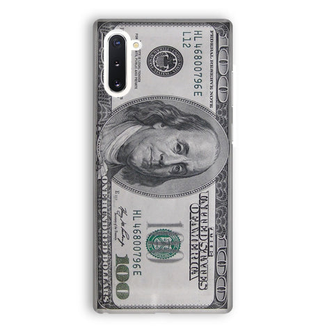 100 US Bill Samsung Galaxy Note 10 Case