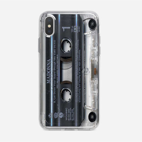 Clear Cassette Tape iPhone XS Max Case
