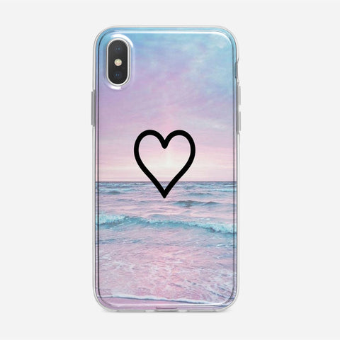 Corazon Estilo iPhone XS Case