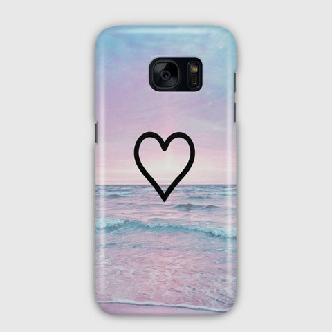 Corazon Estilo Samsung Galaxy S7 Edge Case