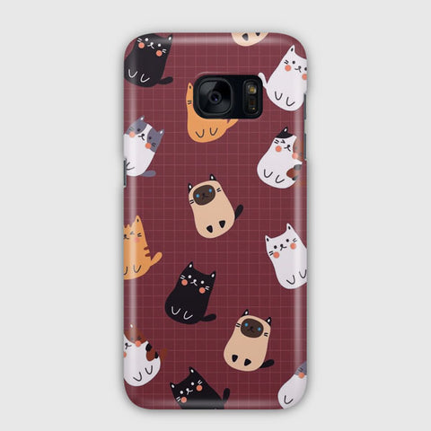 Cute Cats Samsung Galaxy S7 Edge Case