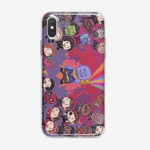 Cute Avengers Pattern iPhone XS Max Case