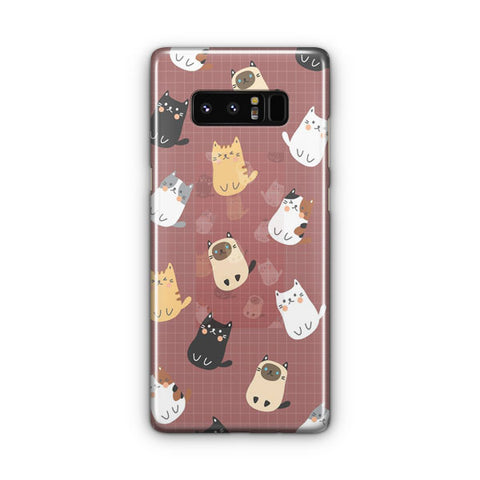 Cute Cats Pattern Samsung Galaxy Note 8 Case