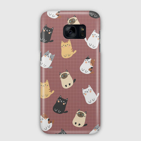 Cute Cats Pattern Samsung Galaxy S7 Case