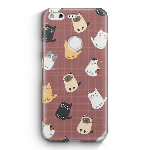Cute Cats Pattern Google Pixel Case