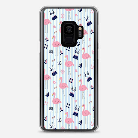 Cute Flamingos Pattern Samsung Galaxy S9 Case