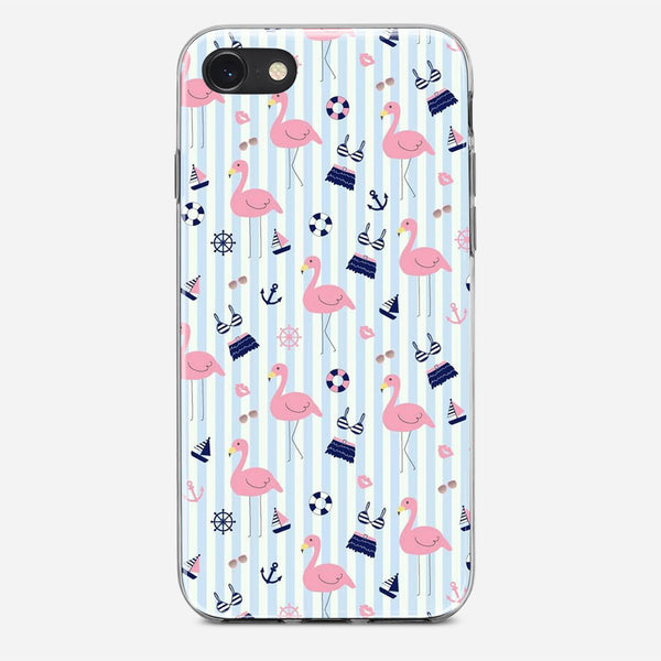 Cute Flamingos Pattern iPhone X Case