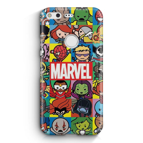 Cute Marvel Hero Minimalist Google Pixel XL Case