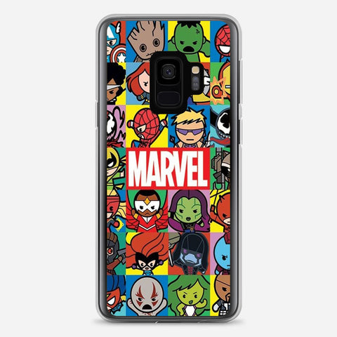 Cute Marvel Hero Minimalist Samsung Galaxy S9 Case