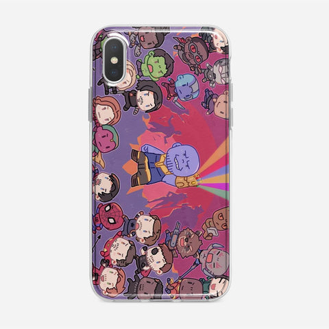 Cute Marvel Superhero iPhone XS Case